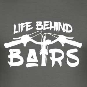 Life Behind Bars - Mountain Bike Passion! - Männer Slim Fit T-Shirt