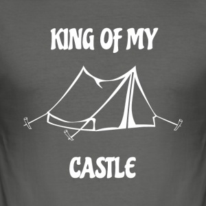King of my Castle Zelt Camping - Männer Slim Fit T-Shirt