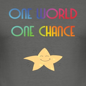 One World One Chance - slim fit T-shirt