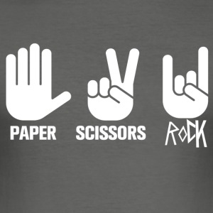 Rock Paper Scissors - Männer Slim Fit T-Shirt