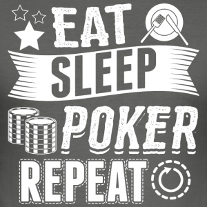 poker EAT SLEEP - Herre Slim Fit T-Shirt