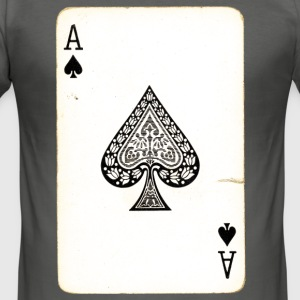 Games Card Ace Of Spades - Men's Slim Fit T-Shirt