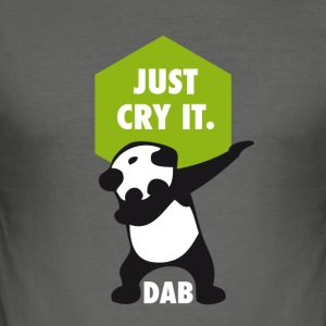 dab cry panda dabbing touchdown just cry it funny - Men's Slim Fit T-Shirt