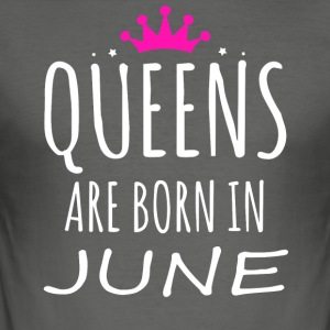 Queens föds i juni - Slim Fit T-shirt herr