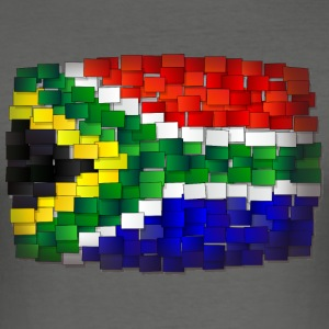 flag Sydafrika - Slim Fit T-shirt herr