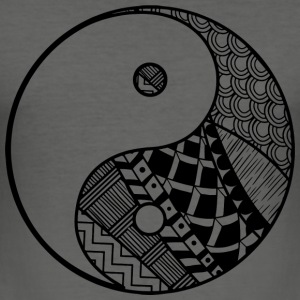 Dekorative Yin-Yang - Männer Slim Fit T-Shirt