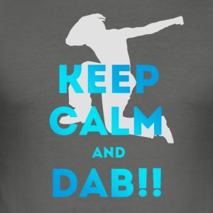 keep calm and dab dance arm above - Men's Slim Fit T-Shirt
