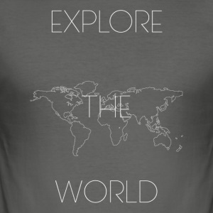 EXPLORE THE WORLD - Camiseta ajustada hombre