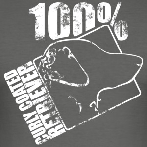 Curly coated retriever 100 - slim fit T-shirt