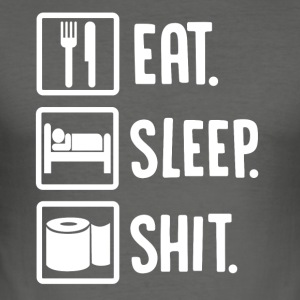 ++ Eat, Sleep, Faen ++ - Slim Fit T-skjorte for menn