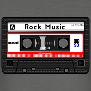 ROCK MUSIC KASSETTE - Männer Slim Fit T-Shirt