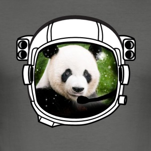 helm panda Astronaut alle bovengrondse hipster - slim fit T-shirt