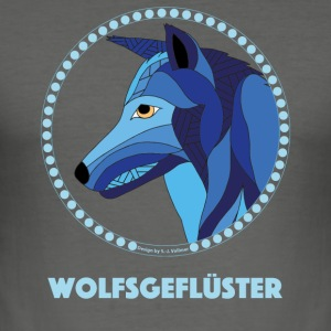 Wolfsgefluester - Men's Slim Fit T-Shirt