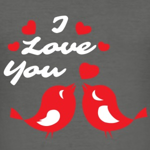 Tortelduiven I love you - slim fit T-shirt