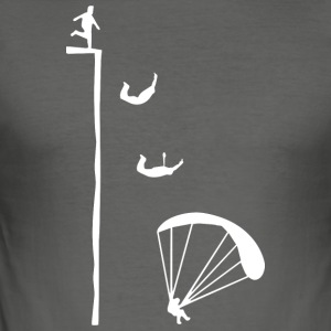 Paragliding T-shirt - Herre Slim Fit T-Shirt