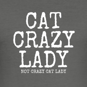crazy cat lady - Men's Slim Fit T-Shirt