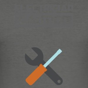 Electrician: Electrician. Caution! Flying Tools & - Men's Slim Fit T-Shirt