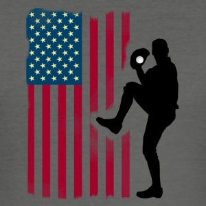 baseball-werfer Team USA Flagge Softball Sport tea - Männer Slim Fit T-Shirt