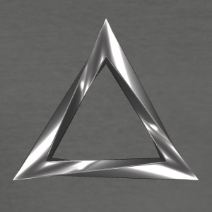 triangle impossible - Tee shirt près du corps Homme