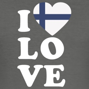 I love Finland - Men's Slim Fit T-Shirt