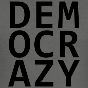 DEMOCRAZY - Männer Slim Fit T-Shirt