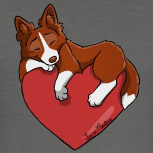Border Collie Red - Slim Fit T-shirt herr