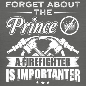 firefighter FORGET PRINCE - Männer Slim Fit T-Shirt