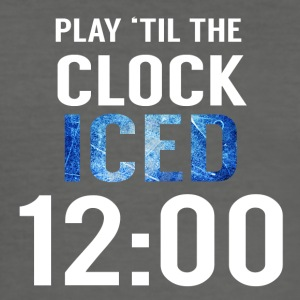 Hockey: Play'til de klok iced 00:00 - slim fit T-shirt