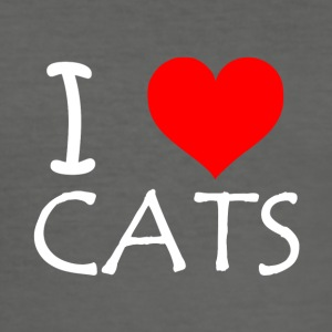 I Love Cats - Men's Slim Fit T-Shirt