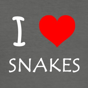 I Love Snakes - Männer Slim Fit T-Shirt