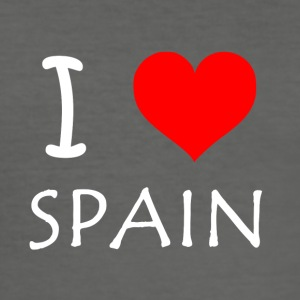 I Love Spanien - Herre Slim Fit T-Shirt