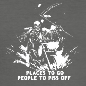 Places to go people to piss off - Männer Slim Fit T-Shirt