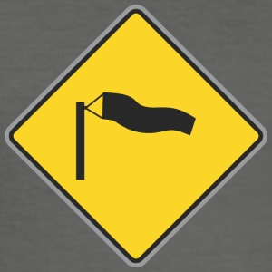 Road Sign blæsende - Herre Slim Fit T-Shirt