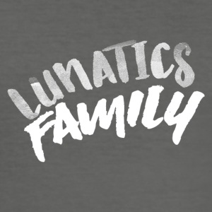 Lunatics Familie, Weiß Motive - Männer Slim Fit T-Shirt