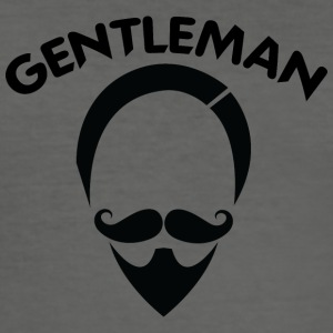 GENTLEMAN 6 svart - Slim Fit T-shirt herr