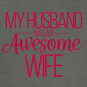 Wedding / Marriage: My Husband has an awesome Wife - Men's Slim Fit T-Shirt