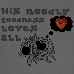 his noodle goodness loves all - Men's Slim Fit T-Shirt