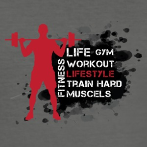 Life, gym, trening, livsstil, Train, Hard, Muscel - Slim Fit T-skjorte for menn