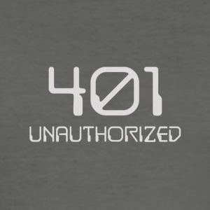 401- unauthorized light - Men's Slim Fit T-Shirt