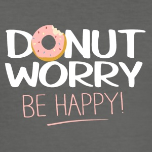 Donut worry - be happy - Männer Slim Fit T-Shirt