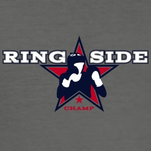 ring side boxing 01 - Men's Slim Fit T-Shirt