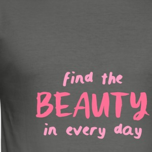 Find The Beauty - Maglietta aderente da uomo