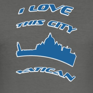 VATICAN I love this city - Men's Slim Fit T-Shirt