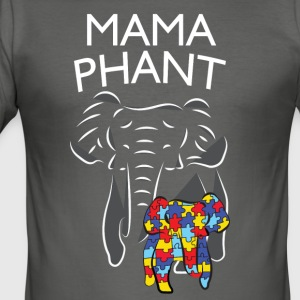 Autism Awareness Mamaphant Mama Elephant T-Shirt - Männer Slim Fit T-Shirt