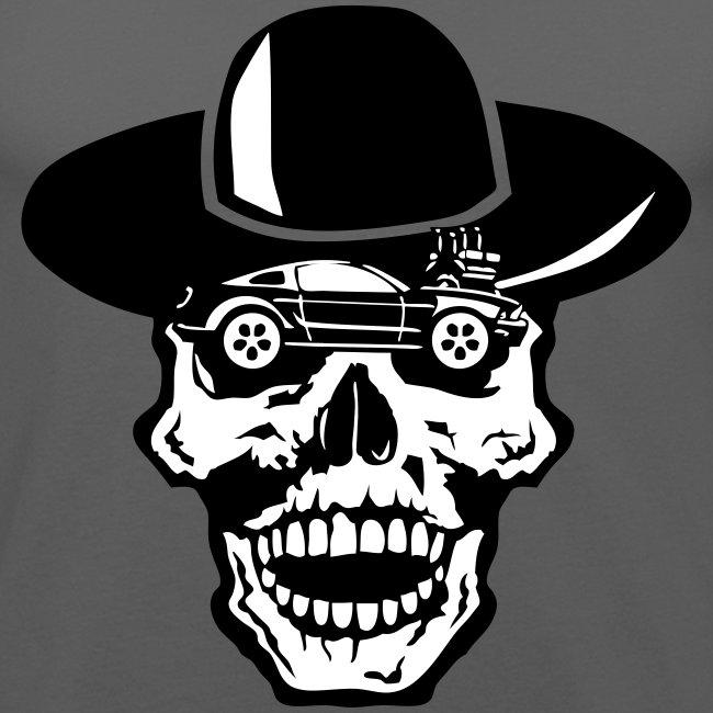 tete mort voiture skull car vintage chap