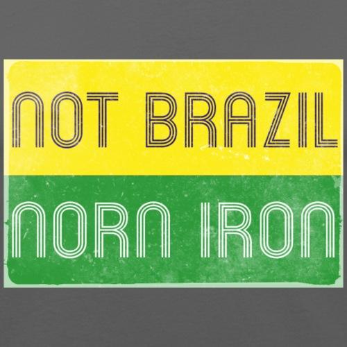 notbrazil distressed jpg - Men's Slim Fit T-Shirt