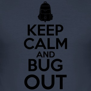 Keep Calm and Bug Out - Slim Fit T-skjorte for menn