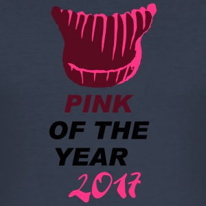 pink of the year - pussyhat - Männer Slim Fit T-Shirt