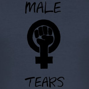 MALE TEARS COLLECTION - Männer Slim Fit T-Shirt