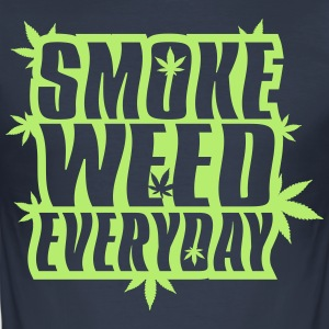 SMOKE_WEED_EVERYDAY - Slim Fit T-shirt herr